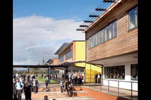 Whitecross School teaching blocks and courtyards